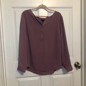 NWT Talbots Lilac Long Sleeve Blouse
